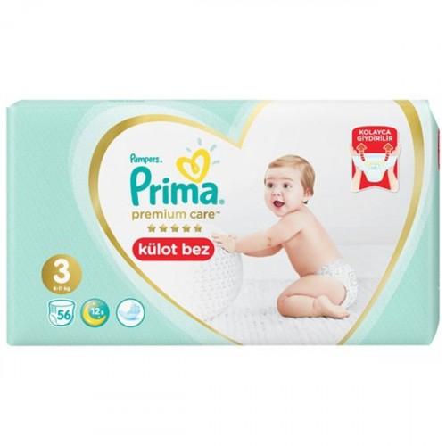 Prima Külot Bebek Bezi Premium Care 3 Beden 56 lı