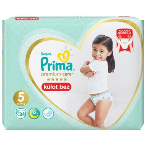 Prima Külot Bebek Bezi Premium Care 5 Beden 34 lü