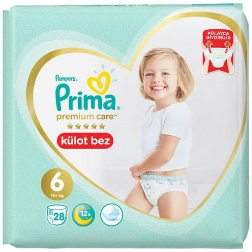 Prima Külot Bebek Bezi Premium Care 6 Beden 28 li