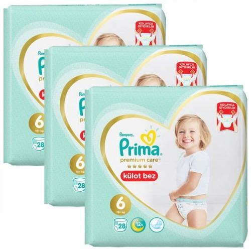 Prima Külot Bebek Bezi Premium Care 6 Beden 28 li x 3 Adet