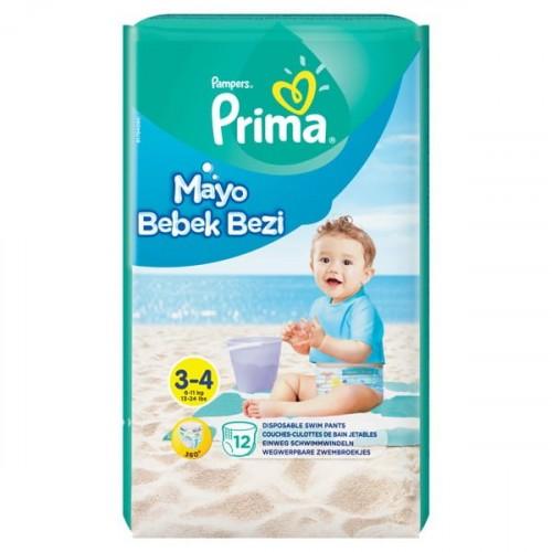 Prima Mayo Bebek Bezi 3 - 4 Beden 12 li