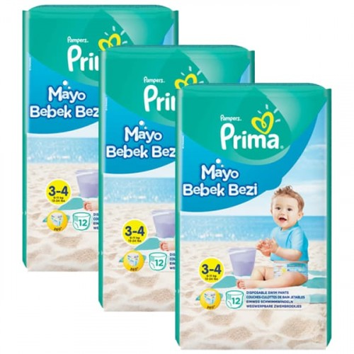 Prima Mayo Bebek Bezi 3 - 4 Beden 12 li x 3 Adet