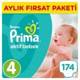 Prima Pampers Bebek Bezi Aktif Bebek Aylık Paket Maxi 4 No 174 lü