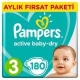 Prima Pampers Bebek Bezi Aktif Bebek Aylık Paket Midi 3 No 180 li