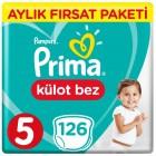 Prima Pants Külot Bebek Bezi Deneme Paketi 5 Beden 126 Adet