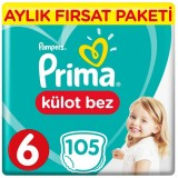 Prima Pants Külot Bebek Bezi Deneme Paketi 6 Beden 105 Adet