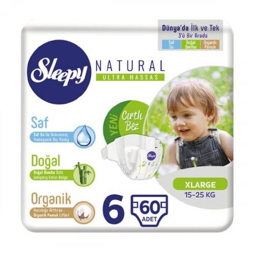 Sleepy Natural Bebek Bezi Xlarge 6 No 20 li x 3 Adet