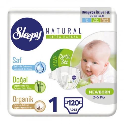 Sleepy Natural Bebek Bezi Yenidoğan 1 No 40 lı x 3 Adet