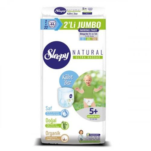 Sleepy Natural Külot Bez Junior Plus 5+ No 22 li x 2 Adet