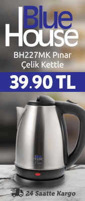 Bluehouse BH234 Dicle Kettle Çelik Üst Kapak